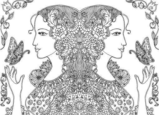 女性横顔2人